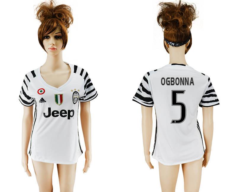 2016-17 Juventus 5 OGBONNA Third Away Women Soccer Jersey