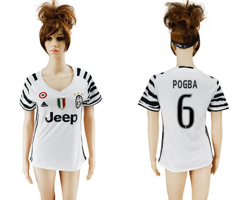 2016-17 Juventus 6 POGBA Third Away Women Soccer Jersey