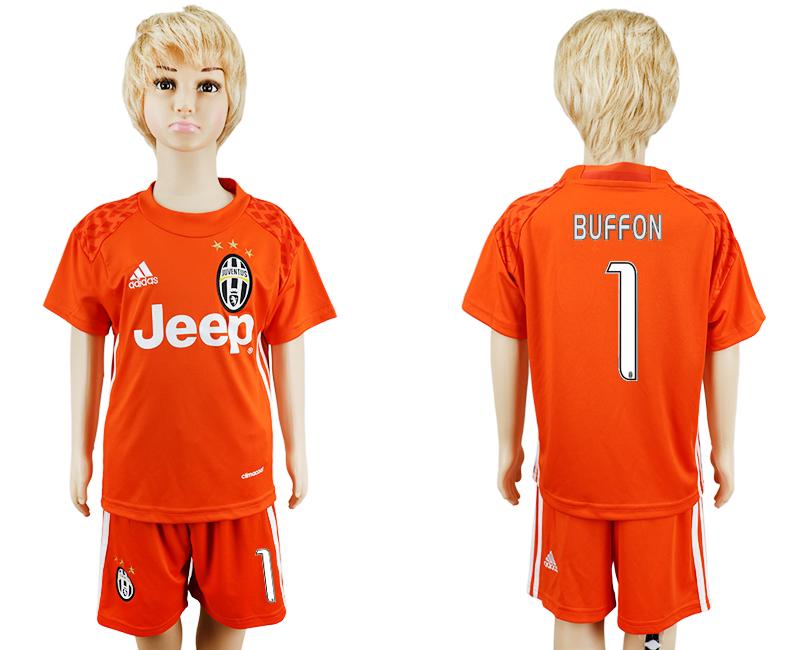 2016-17 Juventus 1 BUFFON Orange Goalkeeper Soccer Jersey