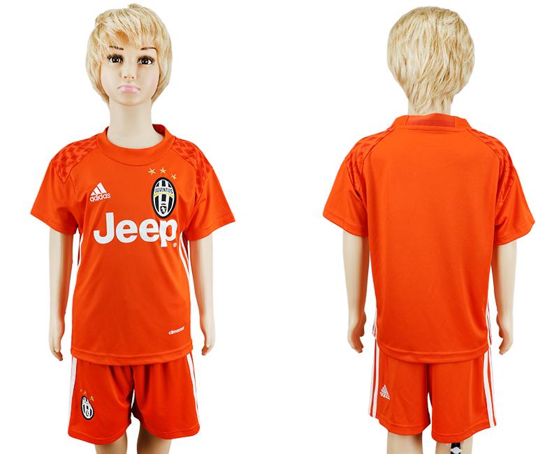 2016-17 Juventus Orange Goalkeeper Soccer Jersey