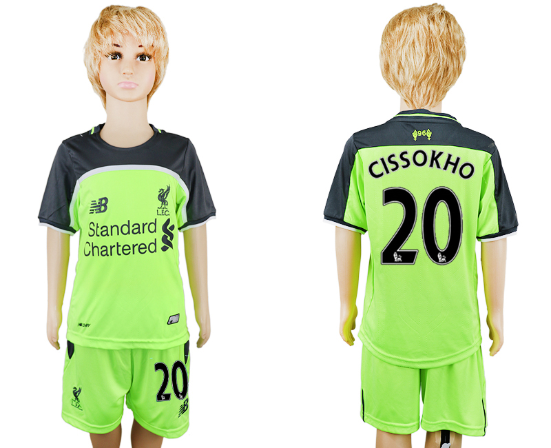 2016-17 Liverpool 20 CISSOKHO Third Away Youth Soccer Jersey