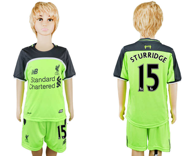 2016-17 Liverpool 5 STURRIDGE Third Away Youth Soccer Jersey