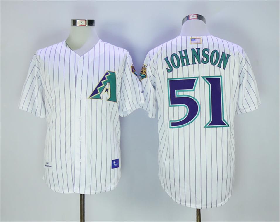Diamondbacks 51 Randy Johnson 2001 Throwback Jersey