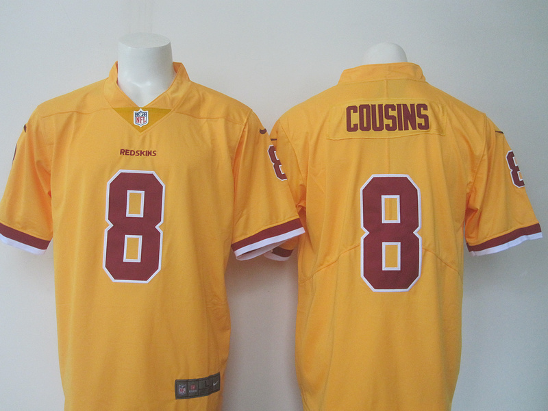 3b30e2042d0 Nike Redskins 8 Kirk Cousins Yellow Youth Color Rush Limited Jersey