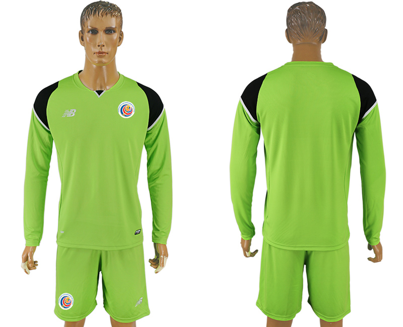 2016-17 Costa Rica Green Goalkeeper Long Sleeve Soccer Jersey