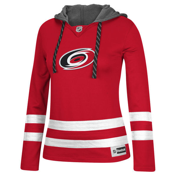 Carolina Hurricanes Red All Stitched Women's Hooded Sweatshirt