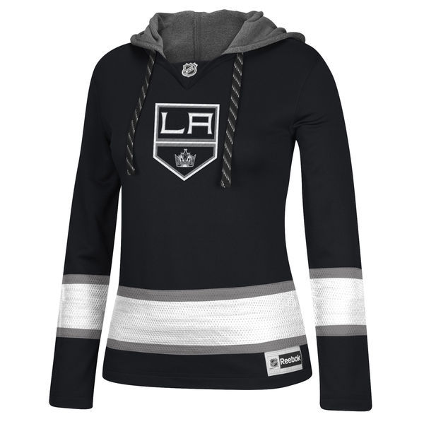 Los Angeles Kings Black All Stitched Women's Hooded Sweatshirt