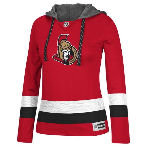 Ottawa Senators Red All Stitched Women's Hooded Sweatshirt
