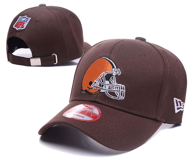 Browns Team Logo Brown Adjustable Hat DF