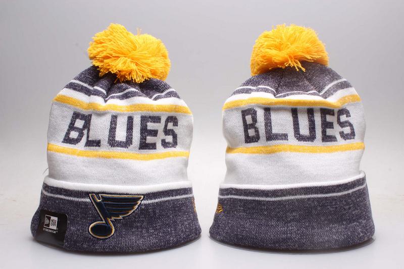 Blues Fresh Logo White & D.Grey Knit Hat YP