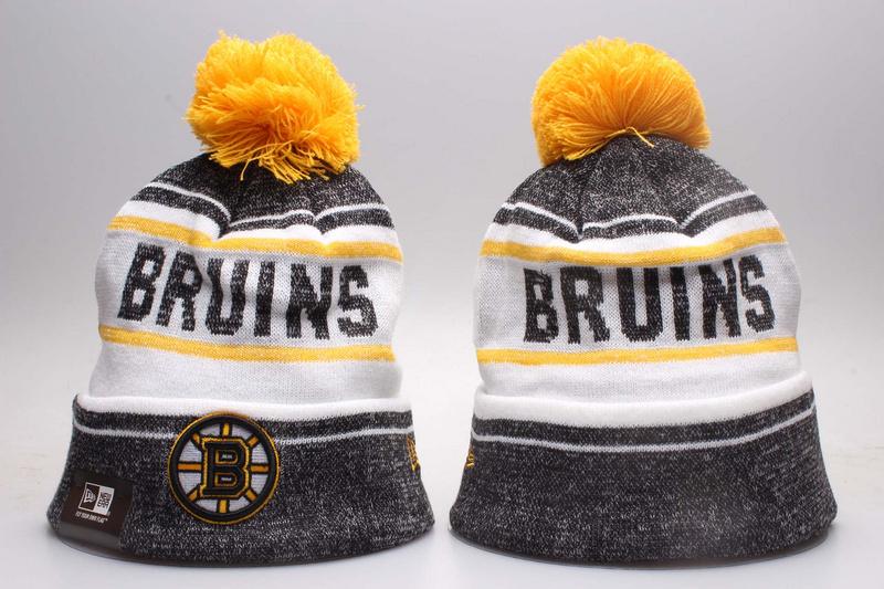 Bruins Fresh Logo White & D.Grey Knit Hat YP