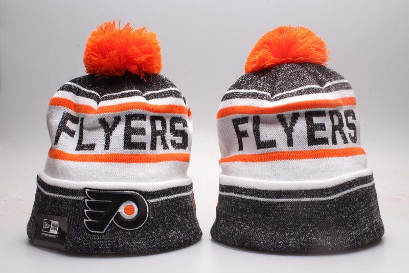 Flyers Fresh Logo White & D.Grey Knit Hat YP