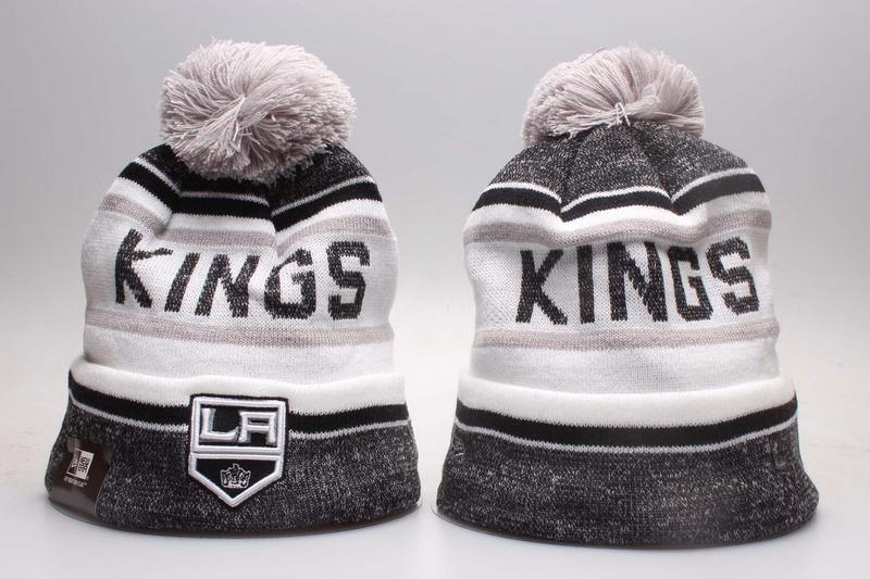 LA Kings Fresh Logo White & D.Grey Knit Hat YP
