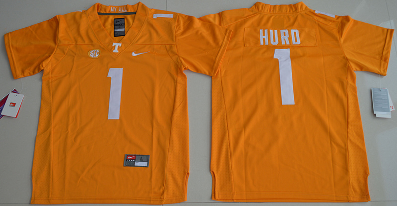 Tennessee Volunteers 1 Jalen Hurd Orange Youth College Jersey