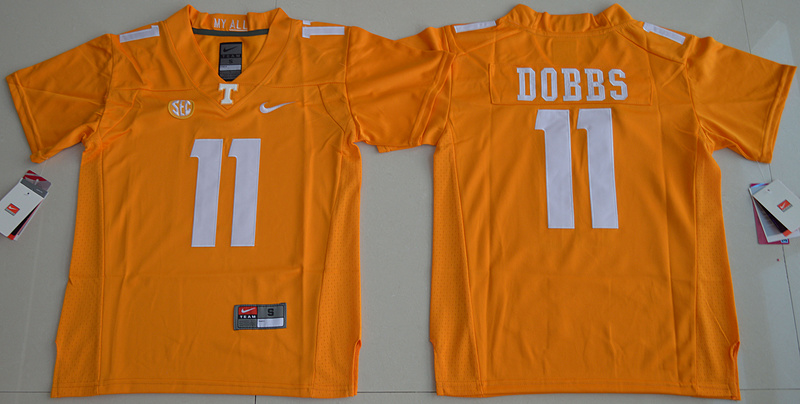 Tennessee Volunteers 11 Joshua Dobbs Orange Youth College Jersey