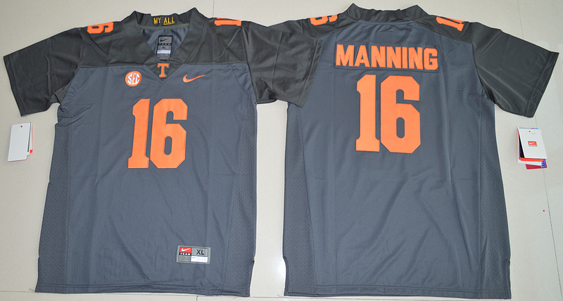 Tennessee Volunteers 16 Peyton Manning Grey Youth College Jersey