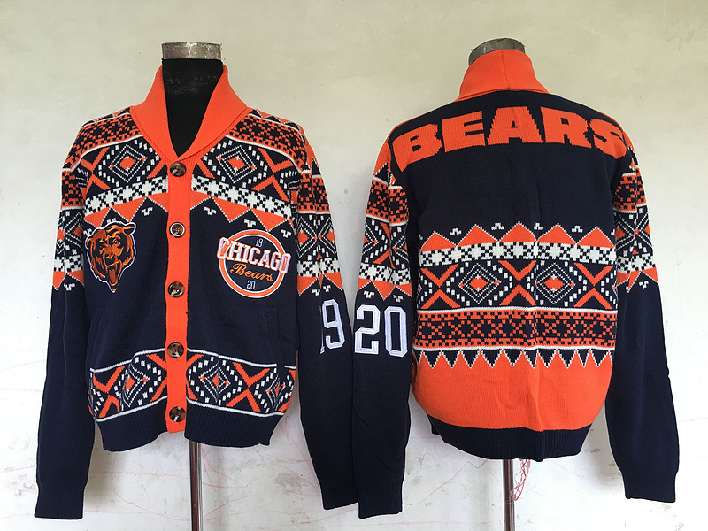 Chicago Bears NFL Adult Ugly Cardigan Sweater
