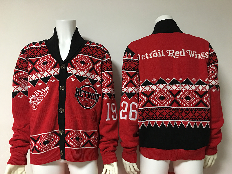 Detroit Red Wings NHL Adult Ugly Cardigan Sweater