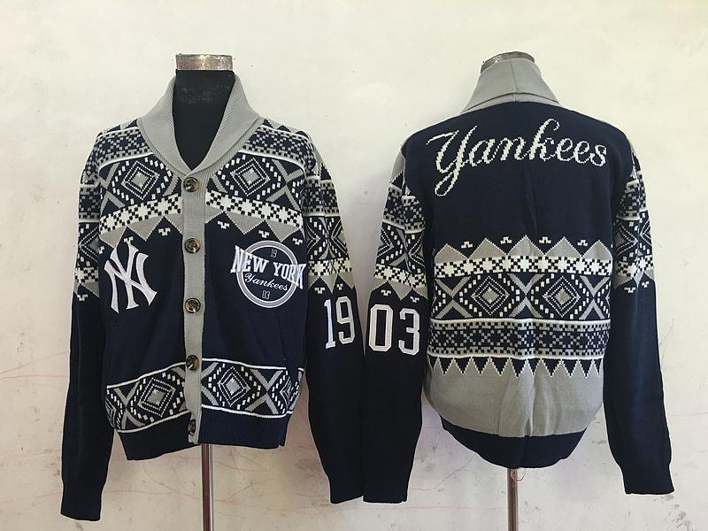 New York Yankees MLB Adult Ugly Cardigan Sweater