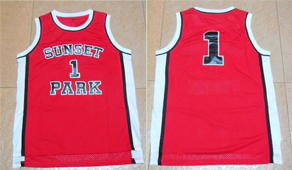 Sunset Park 1 Red Movie Stitched Jersey
