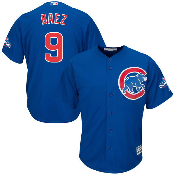 Cubs 9 Javier Baez Royal 2016 World Series Champions Youth New Cool Base Jersey