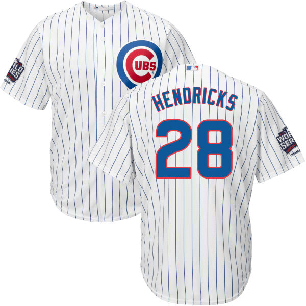 dc7baf8b9 Cubs 28 Kyle Hendricks White 2016 World Series New Cool Base Jersey