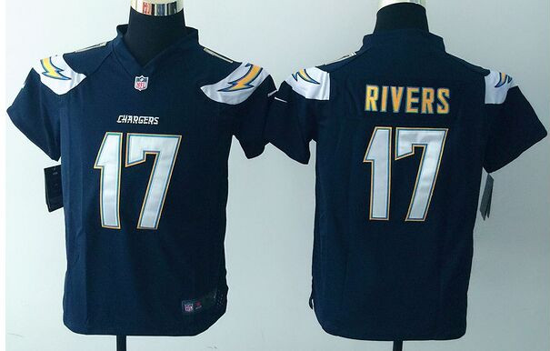 Nike Chargers 17 Philip Rivers Navy Youth Game Jersey