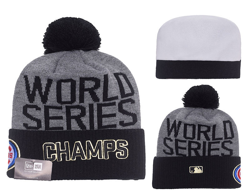 Cubs D.Grey 2016 MLB World Series Champions Knit Hat DF