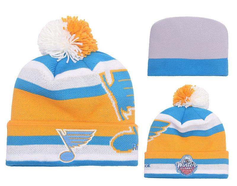 Blues Team Logo Blue & White Knit Hat YP