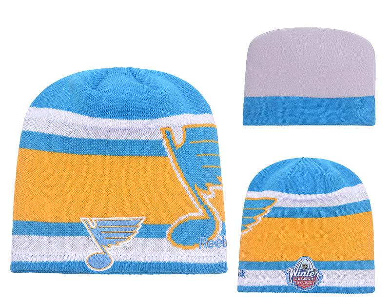 Blues Team Logo Blue & White Knit Hat YP2