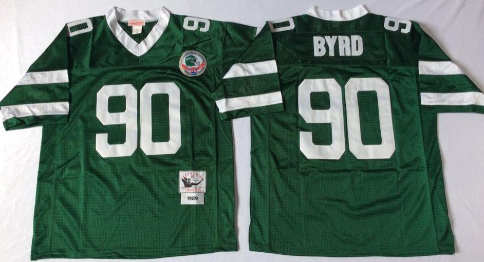 Jets 90 Dennis Byrd Green Throwback Jersey