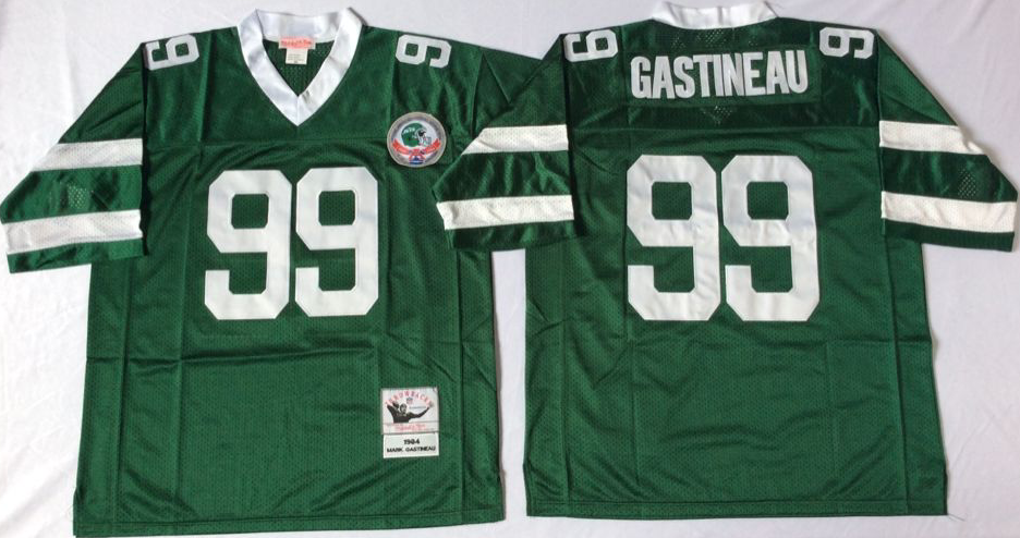 Jets 99 Mark Gastineau Green Throwback Jersey