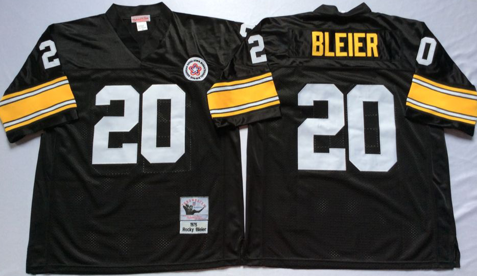 Steelers 20 Rocky Bleier Black Throwback Jersey