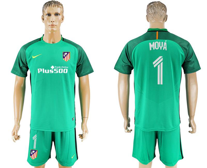 2016-17 Atletico Madrid 1 MOYA Green Goalkeeper Soccer Jersey