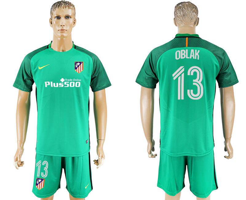 2016-17 Atletico Madrid 13 OBLAK Green Goalkeeper Soccer Jersey