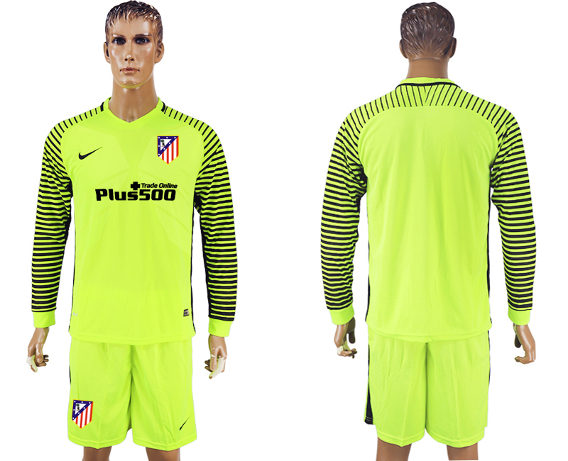 2016-17 Atletico Madrid Goalkeeper Long Sleeve Soccer Jersey