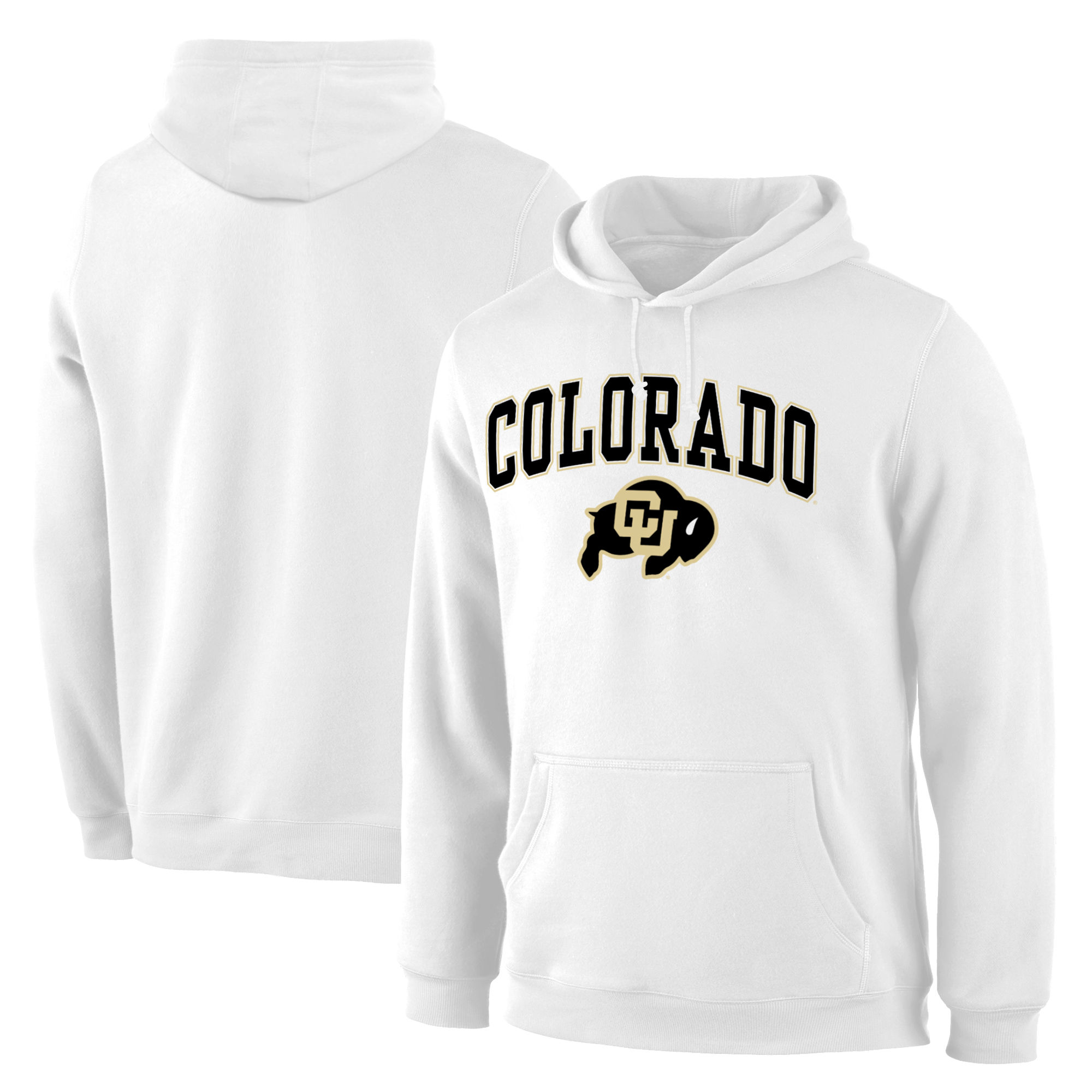 Colorado Buffaloes White Campus Pullover Hoodie