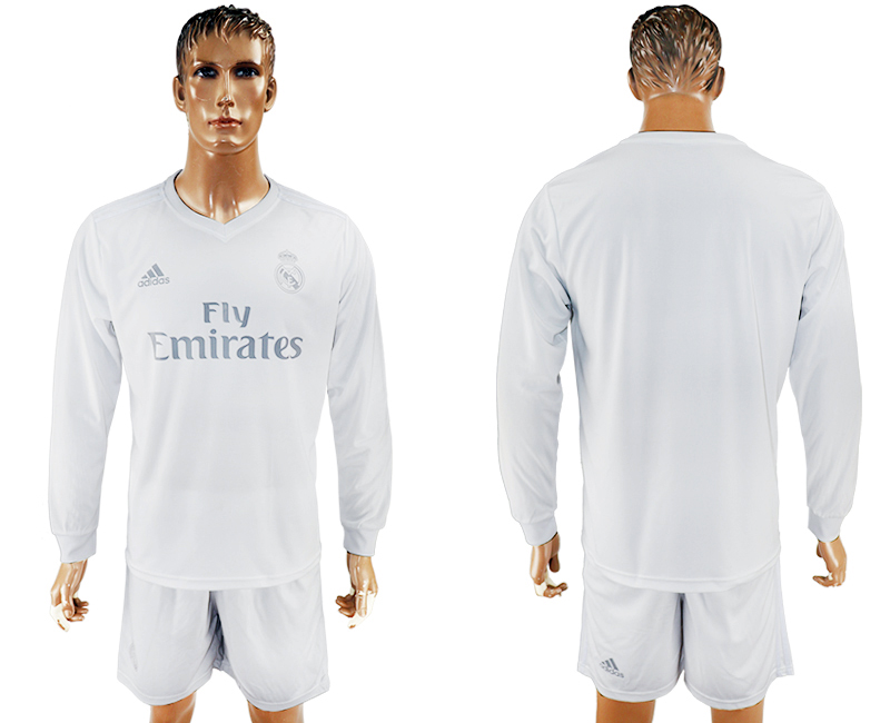 2016-17 Real Madrid adidas x Parley Home Long Sleeve Soccer Jersey