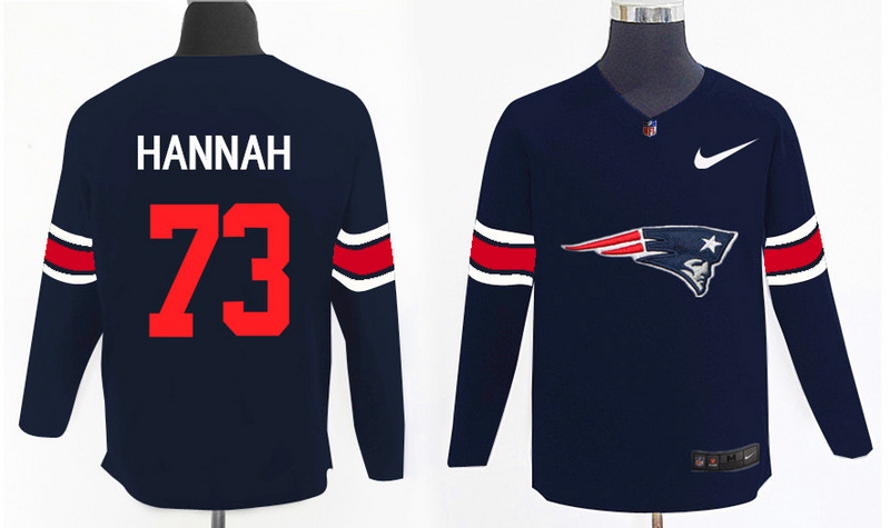 Nike Patriots 73 John Hannah Navy Knit Sweater