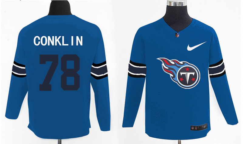 Nike Titans 78 Jack Conklin Light Blue Knit Sweater