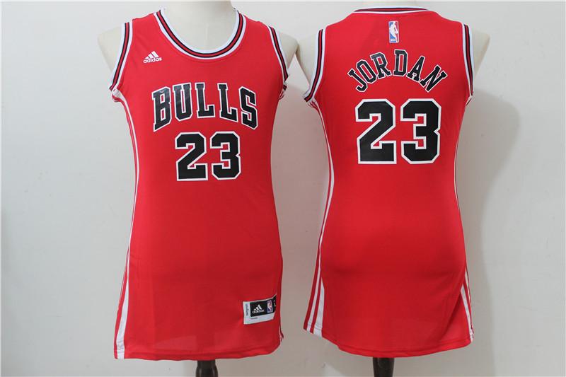 Bulls 23 Michael Jordan Red Women Swingman Jersey