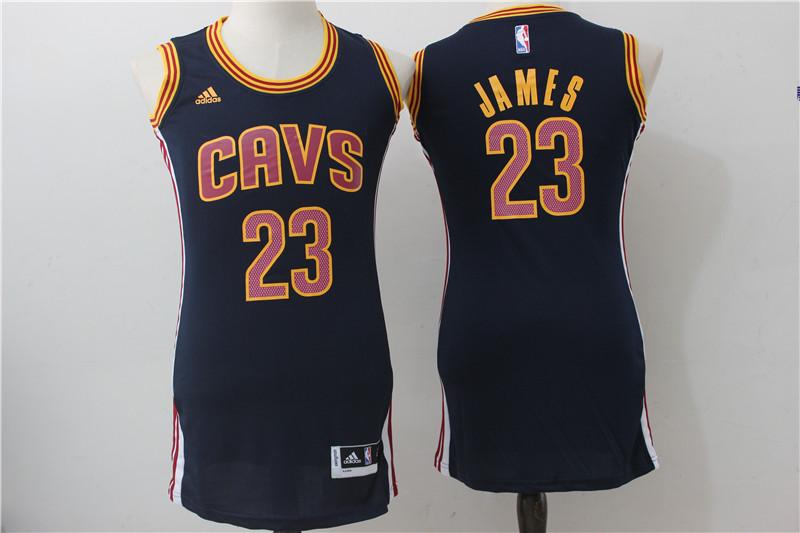 Cavaliers 23 LeBron James Navy Women Swingman Jersey
