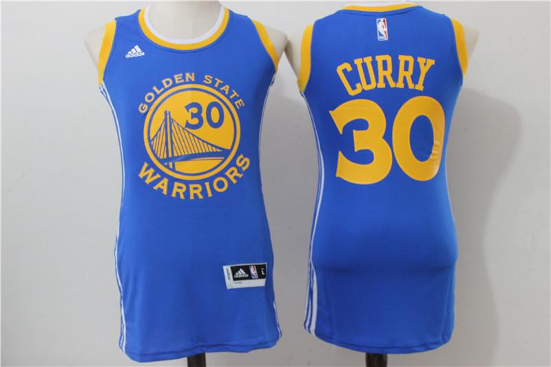 Warriors 30 Stephen Curry Royal Women Swingman Jersey