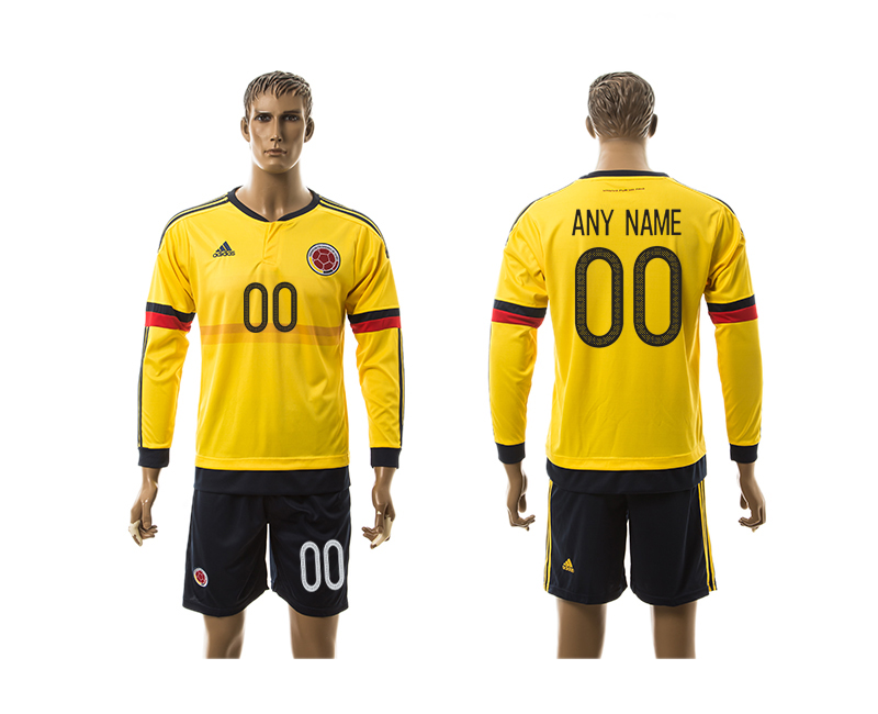 2016-17 Colombia Home Customized Long Sleeve Jersey