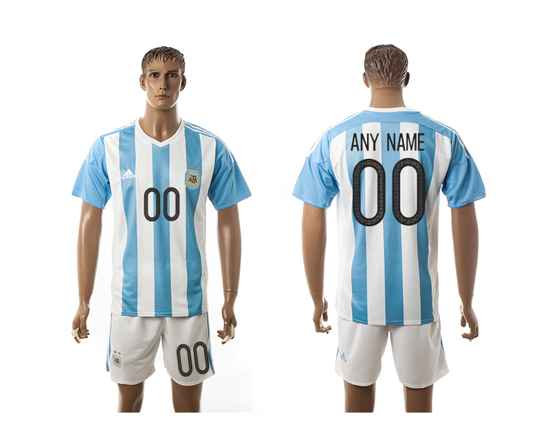 2016-17 Argentina Home Customized Jersey