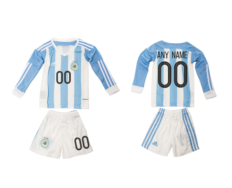 2016-17 Argentina Home Customized Long Sleeve Youth Jersey