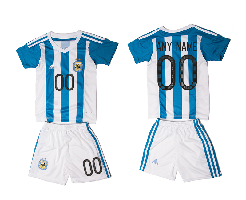 2016-17 Argentina Home Customized Youth Jersey