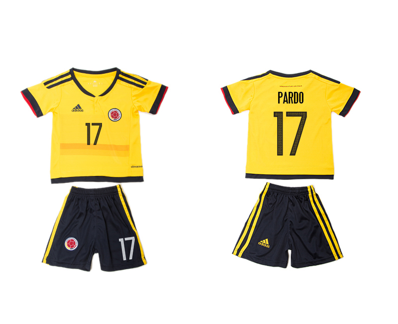 2016-17 Colombia 17 PARDO Home Youth Jersey