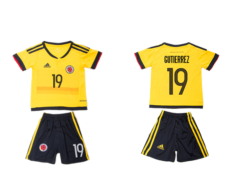 2016-17 Colombia 19 GUTIERREZ Home Youth Jersey
