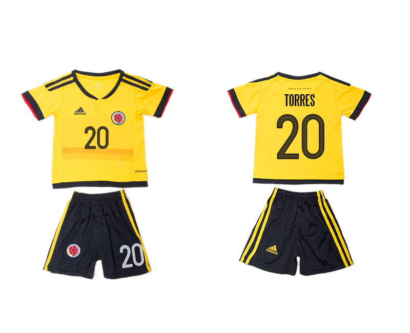 2016-17 Colombia 20 TORRES Home Youth Jersey